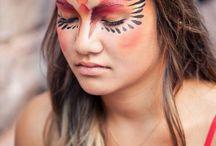 Indianerin Makeup