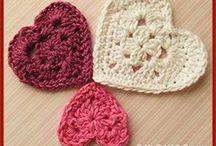 Crochet hearts / Hearts