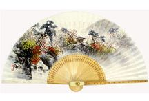 Folding Paper Bamboo Fan