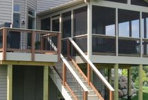 Back deck and screened porch ideas