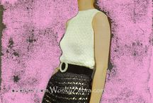crochet tops plain and fancy / vintage pattern PDFs from WonkyZebra, for beautiful crochet tops, camisoles, blouses and tank tops; for all seasons and occasions