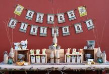 Plaid Flannel Beer Party   Ideas, Decorations and Inspiration / Plaid Flannel Beer party ideas, including party decorations, plaid flannel beer themed sweets and treats, printables and party activities.