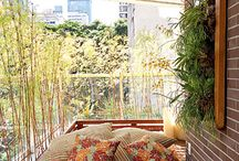 Varandas e terraços.