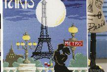 PARIS EN PUNTO DE CRUZ / PARIS LA CIUDAD LUZ / by Almendra Gvc