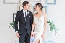Wedding Palette | B L U E S / #blue #colourpalette #wedding