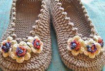 calçado em crochê