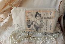 Lněné a krajkové kabelky, tašky, taštičky / Pokud máte zájem o moje výrobky, navštivte můj obchod na  http://www.fler.cz/andin