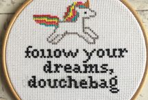 Naughty and lovely cross stitches !