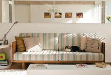 sofás em madeira