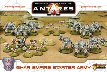Beyond the Gates of Antares - The Ghar Empire / In the Seventh Age of humankind the ancient Gates of Antares link or isolate worlds across countless galaxies. The evolved panhuman races wage unending war to control the tech of the Gates and the undiscovered systems beyond.