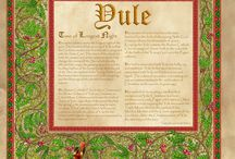 Yule - Winter Solstice / Yule is the celebration of the rebirth of the God who died at Lammas.   Yule is a dark time. During this time of the year we await the return of light.