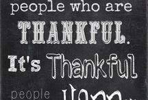 Thankful/dankbaar