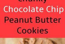 peanut butter choc cookies