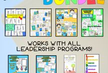 Leader In Me / Classroom decor, ideas, and materials to support leadership and the Leader in Me - 7 Habits - program for teachers and in schools. Ideas for lessons, bulletin boards, data binders, leadership booklets, flip books, character education, and activities for student leaders!