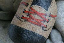 Schuh 3 stein