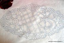 Romanian point lace sablon