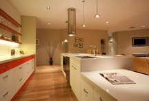 Livable Kitchens / The kitchen space is designed to support ease of movement between fixed benches and to support easy adaptation