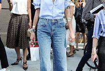Fashion-wide leg jeans
