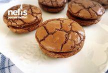 Browni sandviç Sarelle li tarif lezzetli kurabiye