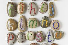 Rock Art Activities / Create beautiful art with rocks in your backyard.  Check out Green Kid Crafts products on http://www.GreenKidCrafts.com