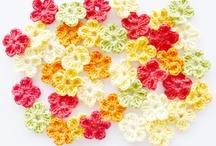 Crochet flower & hearts