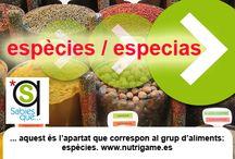 ESPÈCIES / ESPECIAS / Curiosidades sobre las especias para cocinar.