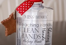 DIY gift giving ideas / little gifts to make for friends, teachers,hostesses or myself.