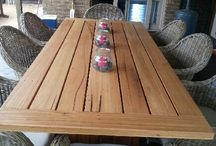 Timber outdoor tables