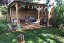 Projecten om te proberen / Tuinoverkapping, veranda, tuin, outdoor living, tuinhuis, haardhout, houtopslag