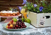 Sesja - piknik w ogrodzie / Zapach lata wyłożony na miętowym talerzy, a wokół sielska sceneria i mnóstwo inspirujących dodatków.