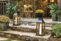 Porches with WIDE Stone Steps