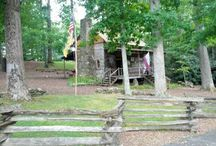 """Hickory Ridge Living History Museum / Hickory Ridge Living History Museum, located on the grounds of """"Horn in the West,"""" is an eighteenth-century living history museum demonstrating the daily lives of our mountain ancestors."""