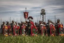 Rapax in Rankweil, Raetia / Roman festival in Rankweil, Austria. Camp of Legio XXI Rapax Roman legions. Reenactment.