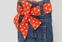 bolsa e artigos em jeans