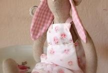 Rabbits sewing