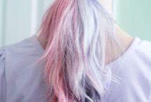 split half hair colour