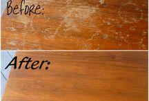 Fixing/restoration of wood