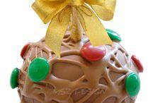 ♥ Navidad ♥ / Regala un detalle delicioso y original en esta Navidad con nuestras ricas MANZANAS GOURMET decoradas con motivos navideños.