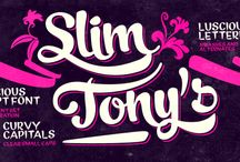 Slim Tony Typeface