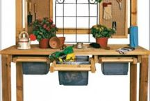 potting benches / by Billie Rogers
