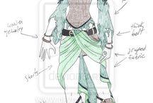 Drawn clothes