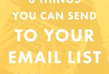 Email Strategies / Better emailing tips and tools for bloggers and businesses