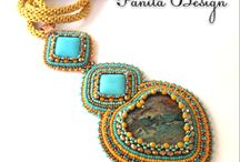 Panita Design / Custom designed soutache and bead embroidery handmade jewelry. Jewelry from the heart, with love