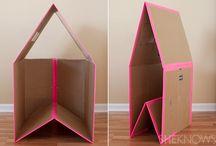 Namioty, domki z dużych kartonów