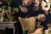 Wallpaper / Dark and Moody Floral Wallpaper by Ellie Cashman
