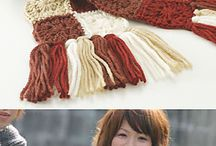 crochet scarfs, headware and gloves