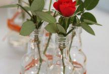 mesas de garrafas.