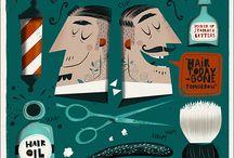 Barbershop / Illustrated Poster