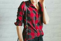 Red-black shirt outfits