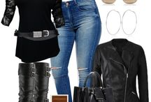 Plus size motorcycle chic